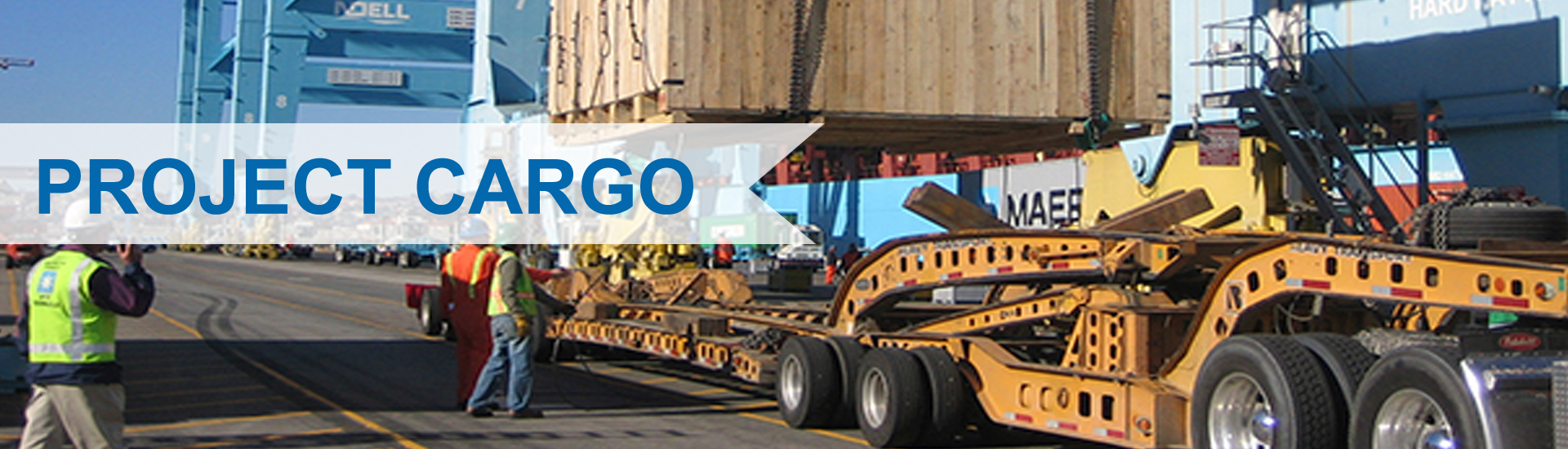 project cargo banner service in